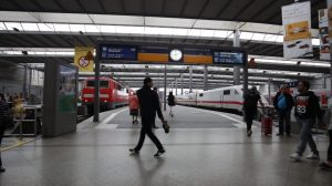 Munich HBF train station HD stock footage of people gallery preview image