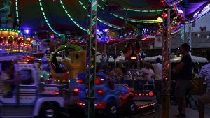 carnival childrens merry go round HD stock video footage
